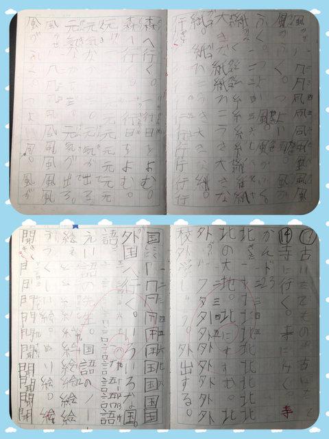 宿題(漢字ドリルのノート).jpg